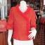 เสื้อผ้าฝ้ายสุโขทัยแต่งระบายผ้าแก้ว ไซส์ S thumbnail 1