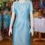 เดรสผ้าไหมแพรทอง สีฟ้า ไซส์ XL thumbnail 1