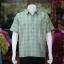 เสื้อเชิ้ตผ้าทอลายสก็อต ไม่อัดผ้ากาว สีเขียว-เหลือง ไซส์ XL thumbnail 1