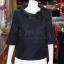 เสื้อผ้าฝ้ายสุโขทัยสีดำ ปกผ้าแก้ว ไซส์ XL thumbnail 1