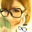 แว่นตาแฟชั่นเกาหลี กรอบดำขาเหลือง(ไม่มีเลนส์) thumbnail 1