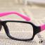 แว่นตาแฟชั่นเกาหลี สีดำชมพูเข้ม (ไม่มีเลนส์) (ของจริงสีชมพูเข้มกว่าในภาพคะ) thumbnail 2
