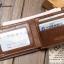 กระเป๋าสตางค์ผู้ชาย หนังแท้ BA-015 [สีน้ำตาล] [มีซิป] thumbnail 6