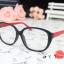 แว่นตาแฟชั่นเกาหลี วินเทจดำแดง (พร้อมเลนส์) thumbnail 2