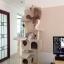 MU0060 คอนโดแมวห้าชั้น ต้นไม้แมว มีบ้านอุโมงค์สองชั้น ของเล่นแขวน สูง 150 cm thumbnail 10