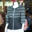 เสื้อคลุมผ้าทอลายลูกแก้วสีดำแต่งผ้าลายมัดหมี่สุโขทัย ไซส์ 2XL thumbnail 2