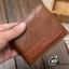 กระเป๋าสตางค์ผู้ชาย หนังแท้ BA-015 [สีน้ำตาล] [มีซิป] thumbnail 9