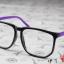 แว่นตาแฟชั่นเกาหลี กรอบสี่เหลี่ยมดำม่วง (พร้อมเลนส์) thumbnail 2