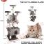 MU0208 คอนโดแมวห้าชั้น ต้นไม้แมว บ้านอุโมงค์ บันได มีของเล่นแขวน สูง 185 cm thumbnail 4