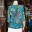 เสื้อผ้าฝ้ายบาติกแต่งปักไหม ไซส์ M thumbnail 3