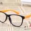 แว่นตาแฟชั่นเกาหลี สีดำส้ม (ไม่มีเลนส์) thumbnail 1