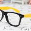 แว่นตาแฟชั่นเกาหลี ดำเหลืองลายจุด (ไม่มีเลนส์) thumbnail 1