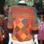 เสื้อคลุมผ้าพิมพ์ลายด้นมือ ไซส์ M thumbnail 3