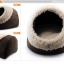 MU0019 ที่นอนแมวอบอุ่น หนานุ่ม รูปทรงเหมือนโพลงไม้ Chocolate Cat bed thumbnail 3