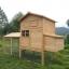 บ้านสัตว์เลี้ยง บ้านหมา บ้านแมว กระต่ายหนูไก่ นก อากาศถ่ายเทได้สะดวก 2 ชั้น ชั้นบนมีห้องเล็กยื่นออกมา ขนาดกลาง สีไม้ธรรมชาติ thumbnail 4