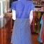 เดรสผ้าฝ้ายสุโขทัยทอลายดอกหวาย ไซส์ 2XL thumbnail 3