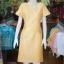 เดรสผ้าฝ้ายสุโขทัย สีเหลือง ไซส์ XL thumbnail 1