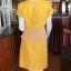 เดรสผ้าฝ้ายสุโขทัยสีเหลือง แต่งผ้าชีฟองอัดพลีท ไซส์ M thumbnail 3