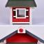 บ้านไม้หมาน้อยยกพื้น บ้านส่วนตัวของหมาน้อยขนาดกระทัดรัด สีแดง thumbnail 2