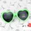 แว่นตากันแดดแฟชั่นเกาหลี กรอบหัวใจสีเขียว thumbnail 1