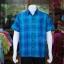 เสื้อเชิ้ตผ้าทอลายสก็อต ไม่อัดผ้ากาว สีน้ำเงิน-เขียว ไซส์ 2XL thumbnail 1