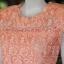 เสื้อลูกไม้ สีโอลโรสส้ม ไซส์ M thumbnail 2