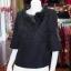 เสื้อผ้าฝ้ายสุโขทัยสีดำ ปกผ้าแก้ว ไซส์ XL thumbnail 3