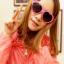 แว่นตากันแดดแฟชั่นเกาหลี กรอบหัวใจสีชมพูอ่อน thumbnail 1