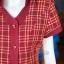 เดรสผ้าฝ้ายทอลายสก็อต มีกระเป๋า ไซส์ XL thumbnail 4