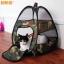 MU0015 เต๊นท์นอนแมว ตาข่าย ลายพรางทหาร ระบายอากาศได้ดี CAMOUFLAGE CAT TENT thumbnail 1