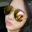แว่นตากันแดดแฟชั่นเกาหลี กรอบทอง เลนส์ปรอทสีทองชมพู thumbnail 1