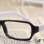 แว่นตาแฟชั่นเกาหลี สีดำขาว (ไม่มีเลนส์) thumbnail 2