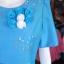 เดรสผ้าฝ้ายสุโขทัยแต่งดอกไม้ ไซส์ L thumbnail 4