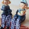 ตุ๊กตาเรซิ่นห้อยขา รูปกะลาสีเรือสองคน (ไซส์เล็ก) - VT0020