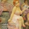 รูปปั้นเรซิ่นสาวอวบติดปีกผีเสื้อ โพสท่านั่ง - รหัส VTD033