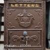ตู้จดหมายเหล็ก สไตล์วินเทจ LETTERS แข็งแรงทนทาน