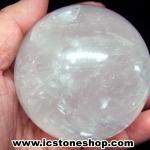 แคลไซต์(calcite) สีขาว ขนาดใหญ่ทรงบอล 7.5 cm 596g