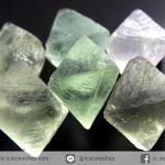 หินฟลูออไรต์ (Fluorite) ธรรมชาติทรงพีระมิคคู่ 6 ชิ้น(29g)