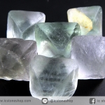 หินฟลูออไรต์ (Fluorite) ธรรมชาติทรงพีระมิคคู่ 6 ชิ้น(26g)