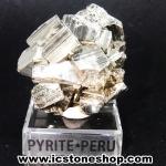 ผลึกกลุ่มไพไรต์ Pyrite เปรูแหล่งสวยสุดในโลก (60g)