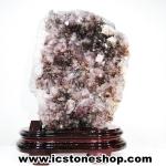 อเมทิสต์-คาโคซีไนท์ (Amethyst-Cacoxenite Geode) ตั้งโต๊ะ (1.68KG)