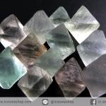 หินฟลูออไรต์ (Fluorite) ธรรมชาติทรงพีระมิคคู่ 12 ชิ้น (23g)