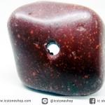 Catlinite หรือเรียกว่า Pipestone หินขัดมันเจาะรู (21g)