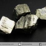 เพชรหน้าทั่ง หรือไพไรต์ pyrite ทรงลูกบาศก์ 4ชิ้น (30g)