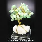 ▽ต้นไม้มงคล หินกรีนอะเวนจูรีน-ฐานควอตซ์ ใช้เสริมฮวงจุ้ย โต๊ะทำงาน (117g)