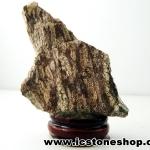 ํ▽ไรโอไลต์ตานก Birds Eye Rhyolite ตั้งโต๊ะ ฐานไม้ (61g)