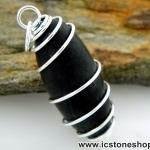 ▽ศิวลิงค์คัม หรือหินพระศิวะ สีดำ หินศักดิ์สิทธิ์จากอินเดีย (10g)