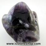 เซฟรอนอเมทิสต์ ( Chevron Amethyst ) หินขัดมันขนาดพกพา (16g)