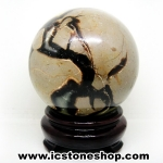 เซ็ปแทเรี่ยน Septarian (Dragon stone) หินทรงกลม (9 cm.,1.1 Kg)