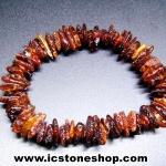 สร้อยข้อมือ อำพันบอลติก (Brown) Genuine Baltic Amber (8g)